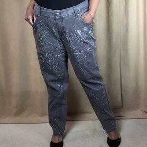 Lane Bryant Crystal Embellish Premium Jeans Sz 20